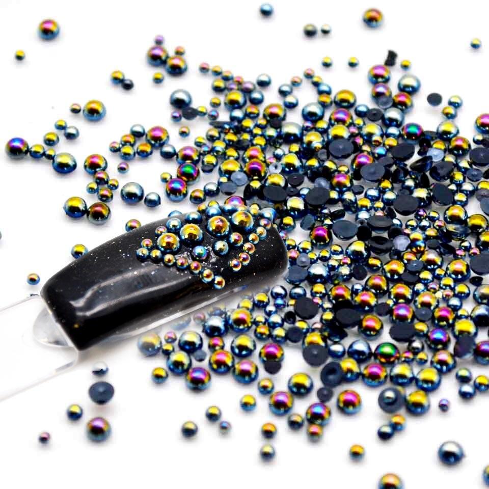 Смешанные Стразы для ногтей Хамелеон черный Ave жемчужные для ногтей камни для ногтей на ногтях жемчужные микс MJZ0101|nail pearl|nail stoneab mix | АлиЭкспресс