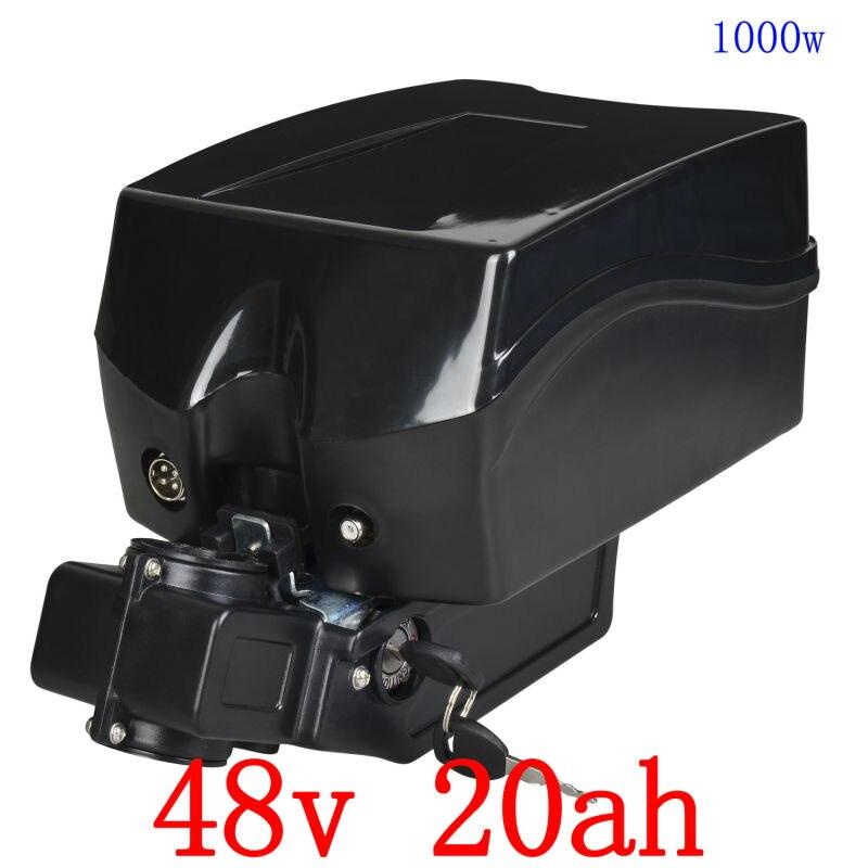STATI UNITI UE NO tax 48 v 20ah agli ioni di litio batteria elettrica della bici 48 v 1000 w bici elettrica della batteria con 30A BMS per F rog ebike e 2A caricatore
