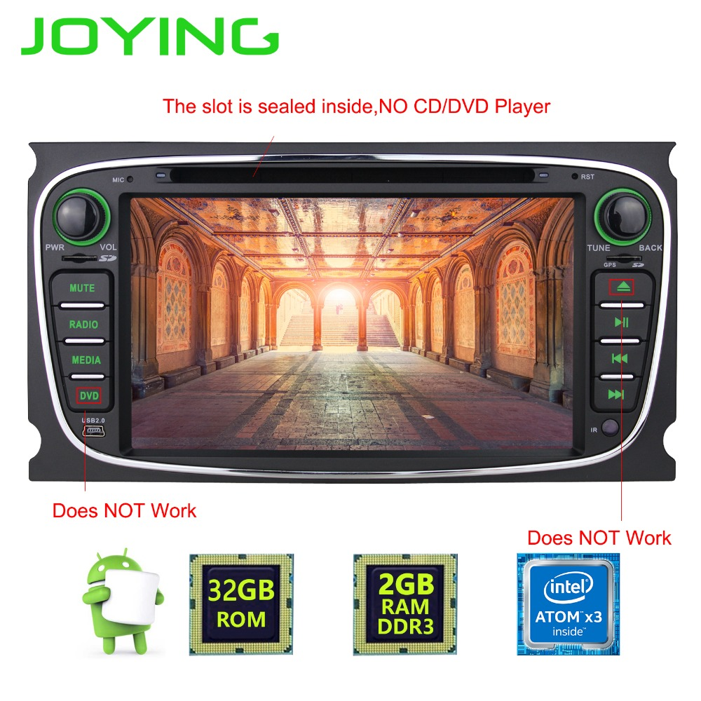 7 joying 2 din 2gb 32gb android 6 0 gps navination head. Black Bedroom Furniture Sets. Home Design Ideas