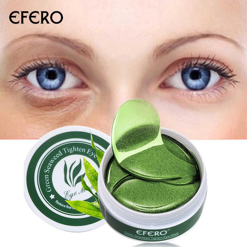 Efero Kolagen Mata Masker Mata Patch untuk Kantung Mata Lingkaran Hitam Removal Anti-Age Pelembab Kulit Perawatan Wajah masker 60 PCS/1 Botol
