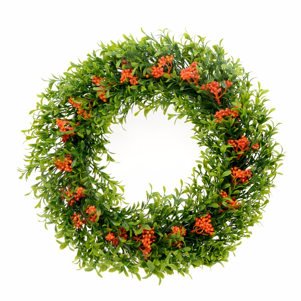 40cm new artificial flowers fake christmas wreaths decorations beautiful wedding decoration party home decorative wreath door in artificial dried flowers