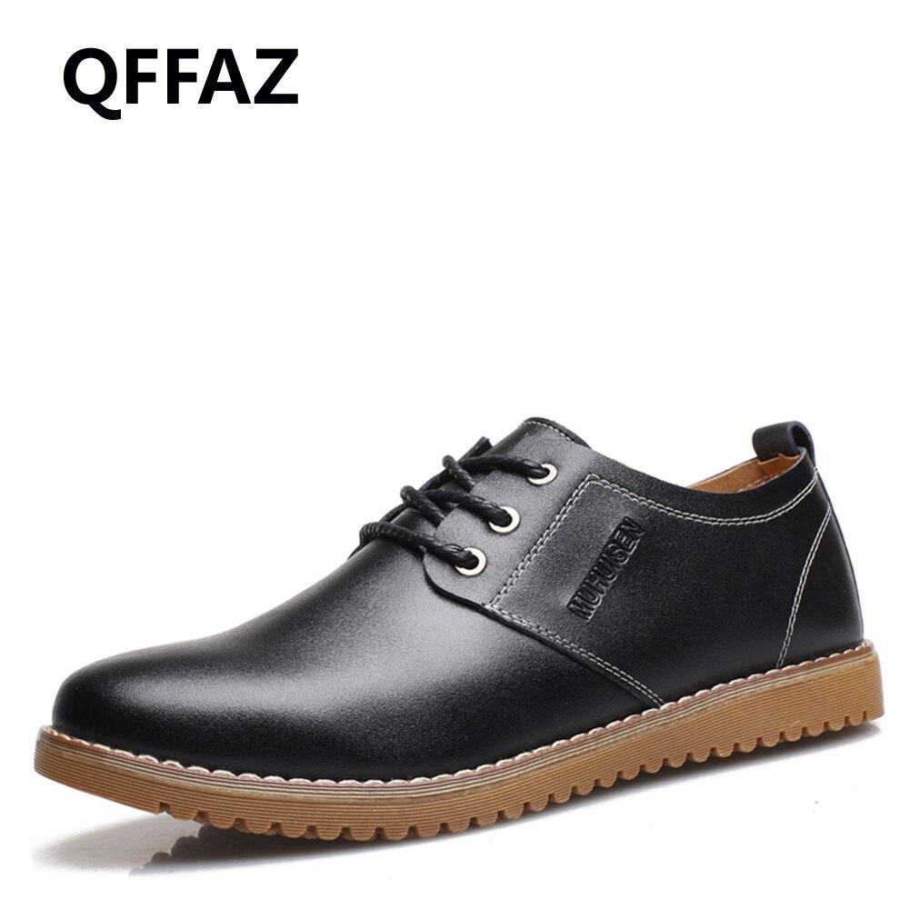 Qffaz 2018 Haute Élégant Homme Formelle Mode Printemps Robe Casual Richelieu Nouveau brown Oxford Cuir Black Chaussures De Rétro En Qualité DW92YEIH
