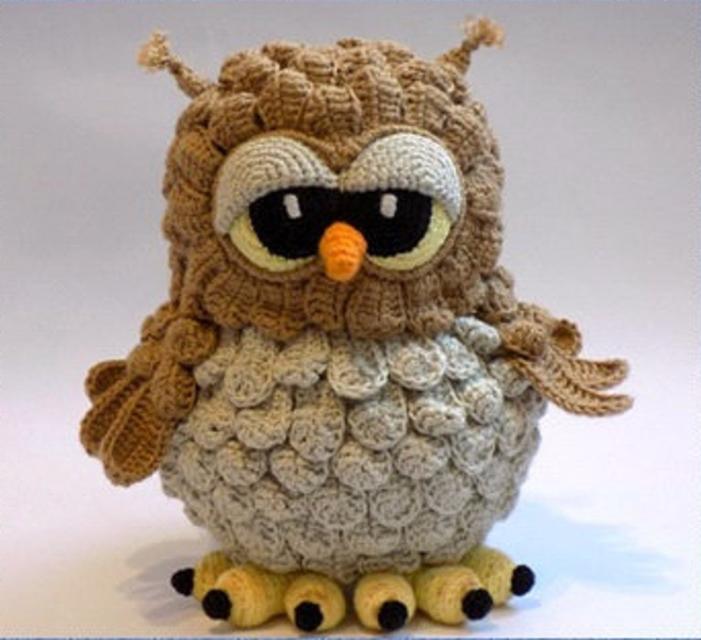 Crochet Toys  Amigurumi  Handmade    Rattle Doll  Owl  Model   Number  JSZ0025