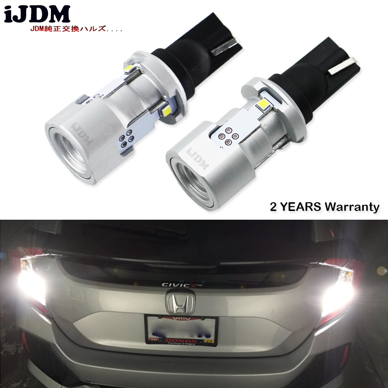 iJDM 6000K White Powered By Luxen LED W16W LED CANBUS Error Free T15 912 921 LED Bulbs For Euro Car Back up Reverse Lights,12V 6pcs extremely bright error free t15 led bulb 921 912 t15 wedge w16w led canbus bulbs stop backup reverse lights white 6000k 12v