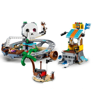Image 4 - New Creators Builerds Set Pirate Roller Coaster 3 in 1 Compatible Creator 31084 Building Educational Toy Christmas Gifts