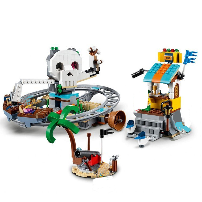 Image 4 - New Creators Builerds Set Pirate Roller Coaster 3 in 1 Compatible Legoing Creator 31084 Building Educational Toy Christmas Gifts-in Blocks from Toys & Hobbies