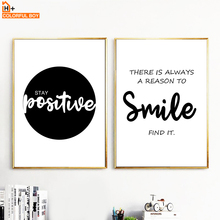 Smile Simple Motivational Quotes Wall Art Canvas Painting Nordic Posters And Prints Black White Pictures For Living Room