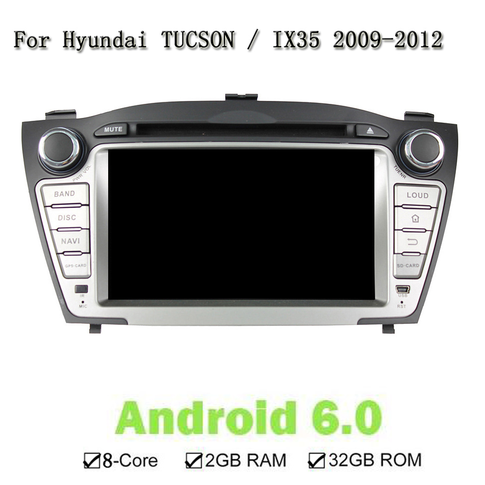 For Hyundai TUCSON IX35 2009-2012 1024*600 8 Core 32G Android 6.0 Car DVD Player Navigation GPS Radio Wifi BT 3G 4G