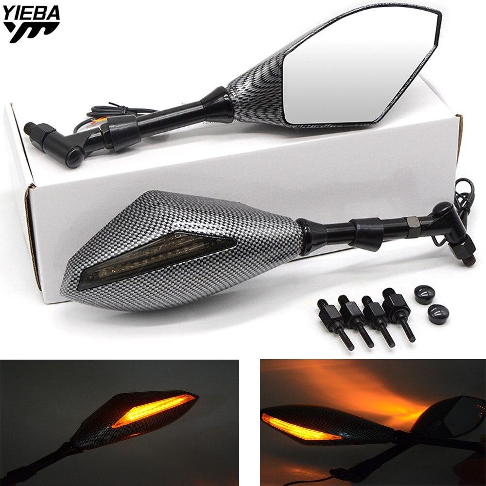 Moto Arrière Rétroviseurs Côté Miroir Avec Clignotants Lumière POUR KAWASAKI Z1000SX/NINJA 1000/Tourer Z900RS Z750R ZX10R H2