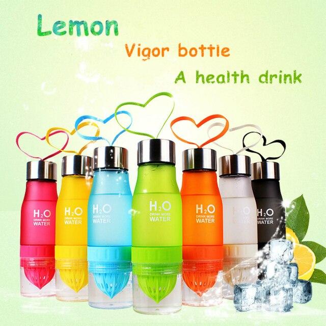 Кемпинг красочные здоровья воды для заварки лимонный сок бутылка шейкер матовый Пластик фруктовые соки Бутылочки сывороточный протеин открытый