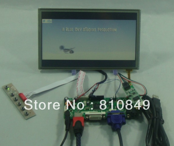 HDMI DVI VGA LCD Control Board+8.9 N089L6 HSD089IFW1 B089AW01 1024x600 LCD Screen With Touch Panel 8 4 8 inch industrial control lcd monitor vga dvi interface metal shell open frame non touch screen 800 600 4 3