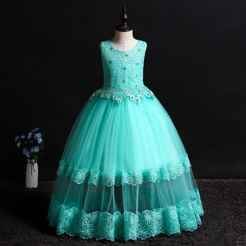 Drop Ship   Girl's   Gauze Shredded Sweet   Flower     Girl     Dress   Tulle   Dress   Lace Hem Ruffles Rhinestone   Flowers   Sleevelss Party wedding