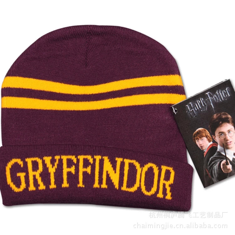 Kids School hat Winter Warm Knitted Wool Harri Potter hat Fashion Striped Badge Slytherin Children college Ravenclaw cap SQ125 the new children s cubs hat qiu dong with cartoon animals knitting wool cap and pile