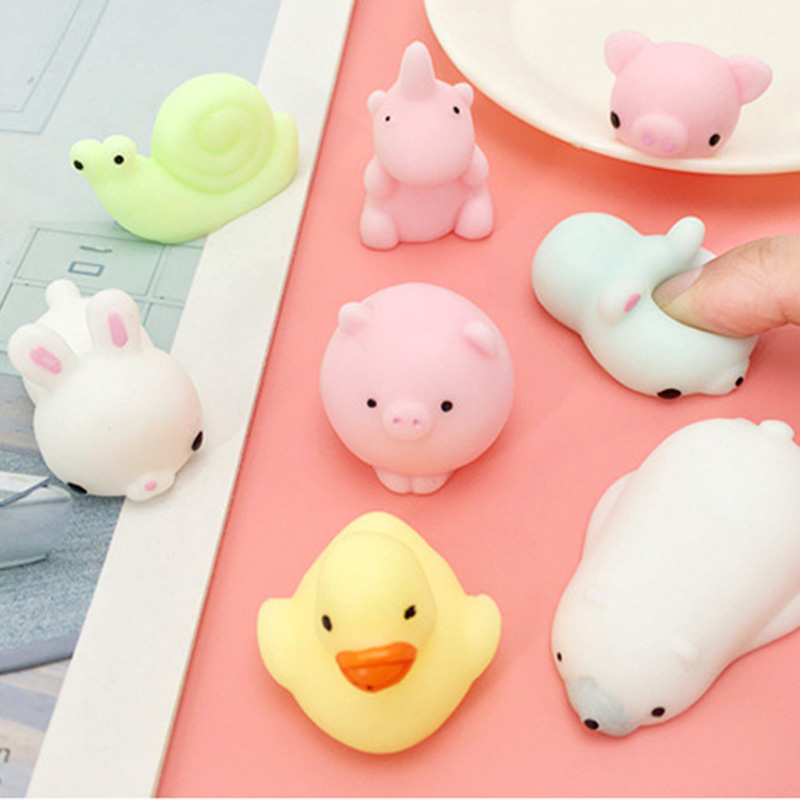 Mini Mochi Squishy Soft Cute Cat Animal Ball Decompression Toy Slow Rising Squeeze Healing Stress Reliever Kawaii Kids Adult Toy