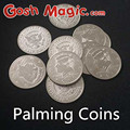 free shipping Magic tricks close up  Palming Coins(Half Dollar Version)