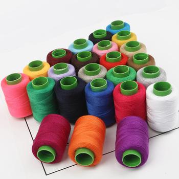 1pc wysoka wytrzymałość na rozciąganie bawełna maszyna hafty nici do szycia nici do szycia ręcznego łatka rękodzieło materiały krawieckie kierownicy tanie i dobre opinie CN (pochodzenie) 100 COTTON GSW016-02 Barwione White Black Red Blue Pink Red Green etc 1pc lot about 300m about 5 5cm