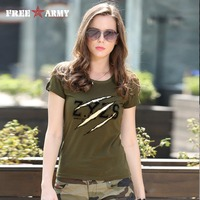 Fashion Summer Ladies Office T Shirt Women Tops Army Green O Neck Cotton Casual T Shirt