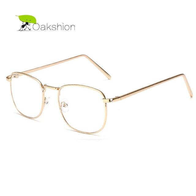 3174f933fe8fb 2018 retro oro metal Marcos Gafas de sol marca lente transparente Gafas  cuadrado vintage miopía Sol