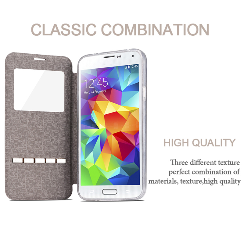 US $4 11 |Capinha Original Slid Answer Flip PU Leather Case For Samsung  Galaxy A5 2017 A520 A520F /A3 2017 A320 View Window Coque Cover-in Flip  Cases