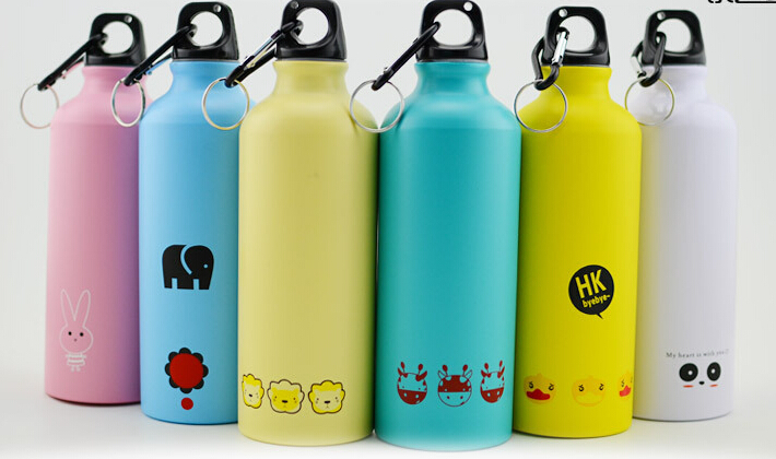 500ML Portable Sports Bicycle Water bottle Lovely Animal Outdoor Top Cycling Camping Bicycle Aluminum Alloy kids Water bottle