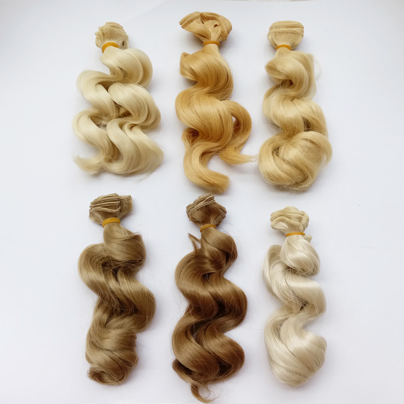 10PCS.LOT Nya DIY BJD perukhår 15cm Curly Hair for Doll Wig