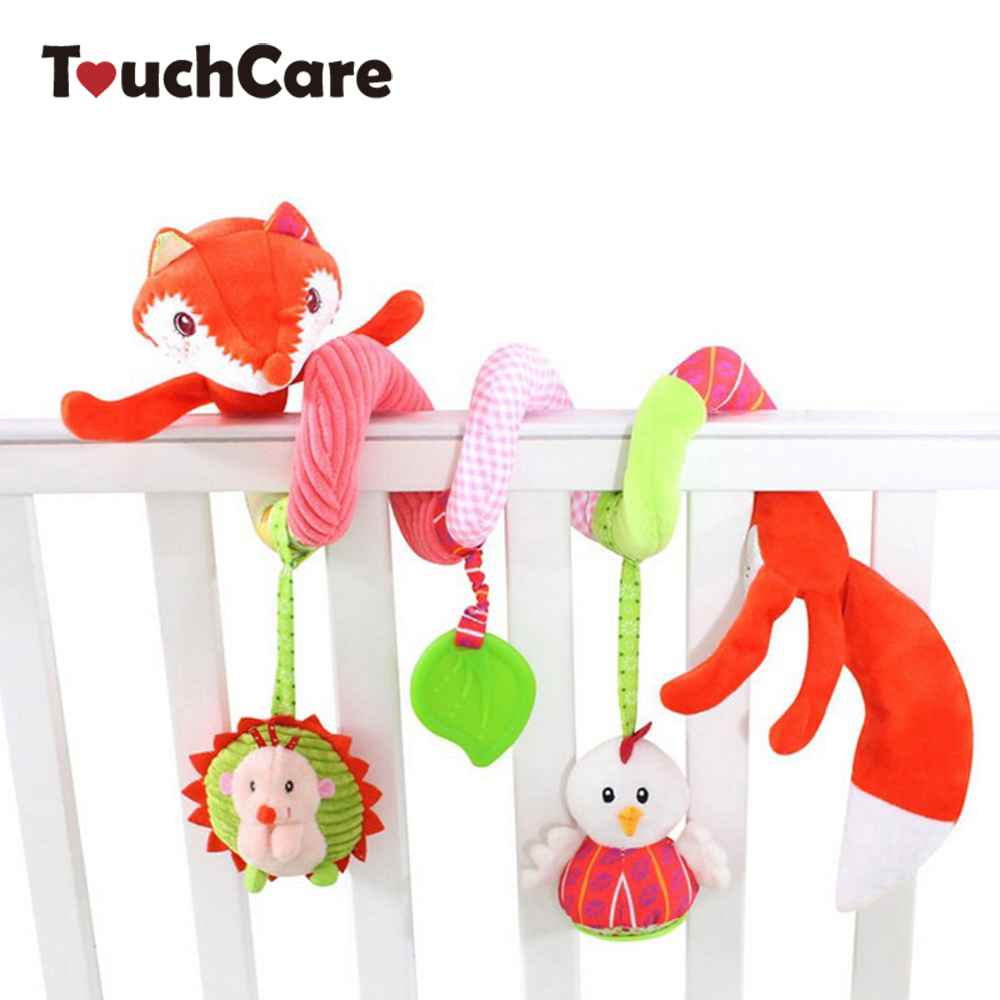 Newborn Cute Cartoon Animal Fox Baby Plush Toys Soft Around Bed Stroller Toddler Toy Car ...