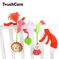 Recém bonito dos desenhos animados fox animal plush toys suave ao redor da cama de bebê carrinho de criança carro de brinquedo torno pendurar chocalhos de bebê móvel