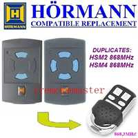 2017 new Hormann HSM2 868,HSM4 868mhz replacement remote control top quality