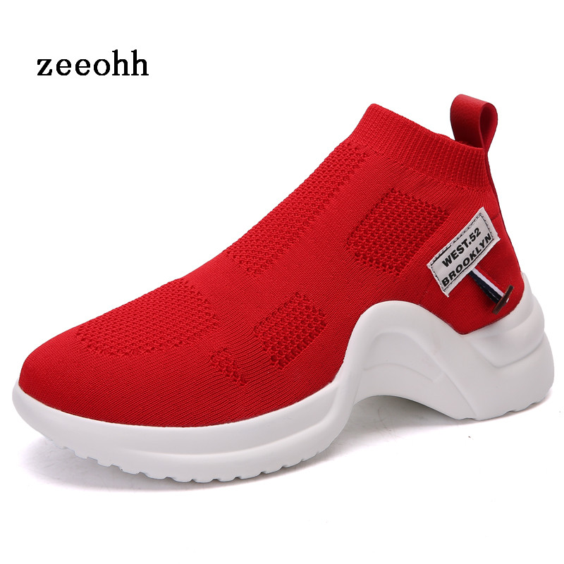 Autumn And Winter New high-top Socks Fashion Sports Womens Shoes Solid Color technology Sense Outdoor Running ShoesAutumn And Winter New high-top Socks Fashion Sports Womens Shoes Solid Color technology Sense Outdoor Running Shoes