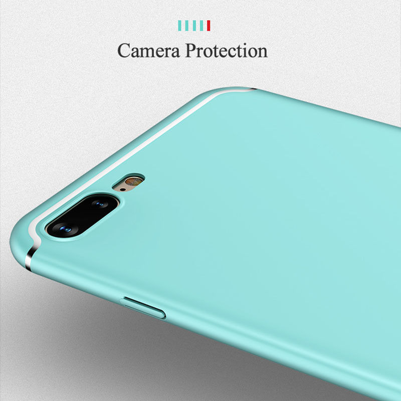 6 Colors for iPhone 6 7 8 Plus X Mint Green Luxury Matte Ultra Thin Fitted Case Protection Phone Cases Cover For iPhone X 6S 7 8 in Fitted Cases from Cellphones Telecommunications