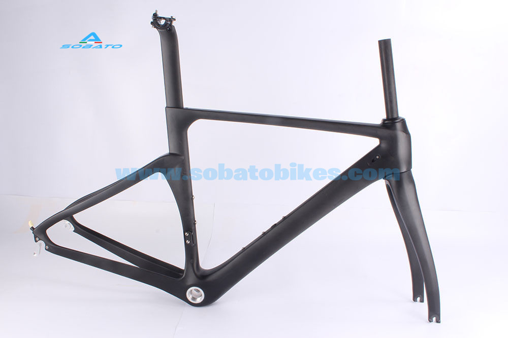 2016 New carbon road frame thru-axle 142*12mm Carbon road bike frame axle thru , Aero Carbon road frame with Disc brakes swag off road bottle jack axle cradle