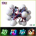 20pcs /Lot DC12V WS2811 30mm Diffused LED Pixel Module Full Color 3LEDs 5050 RGB led lamp string D30 modules IP68 0.72W/PCS