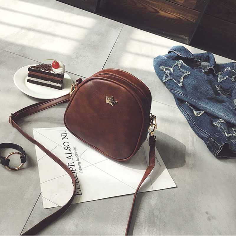 Mara's Dream 2019 Fashion Women Handbag Messenger Bags PU Leather Shoulder Bag Lady Crossbody Mini Bag Female Crown Evening Bags 6