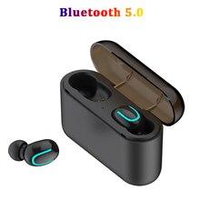 Wireless Bluetooth Earphones 5.0 TWS Headset Bluetooth Stereo Sports Earbuds With Mic Headphone 1500 mAh Power bank For Phone leegoal mini wireless bluetooth 4 1 earphones sports stereo earbuds in ear headphone headset 900mah power bank for android ios