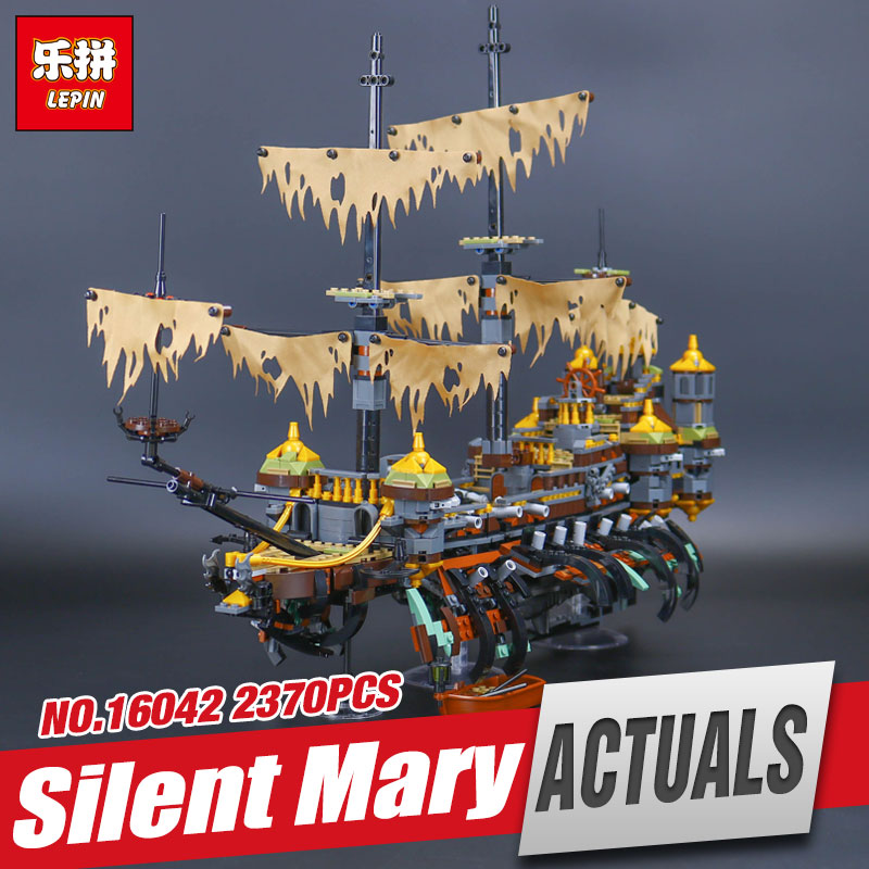 Lepin 16042 2344Pcs New Pirate Ship Series The Slient Mary Set Children Educational Building Blocks Bricks Toys Model Gift 71042 lepin 22001 pirate ship imperial warships model building block briks toys gift 1717pcs compatible legoed 10210