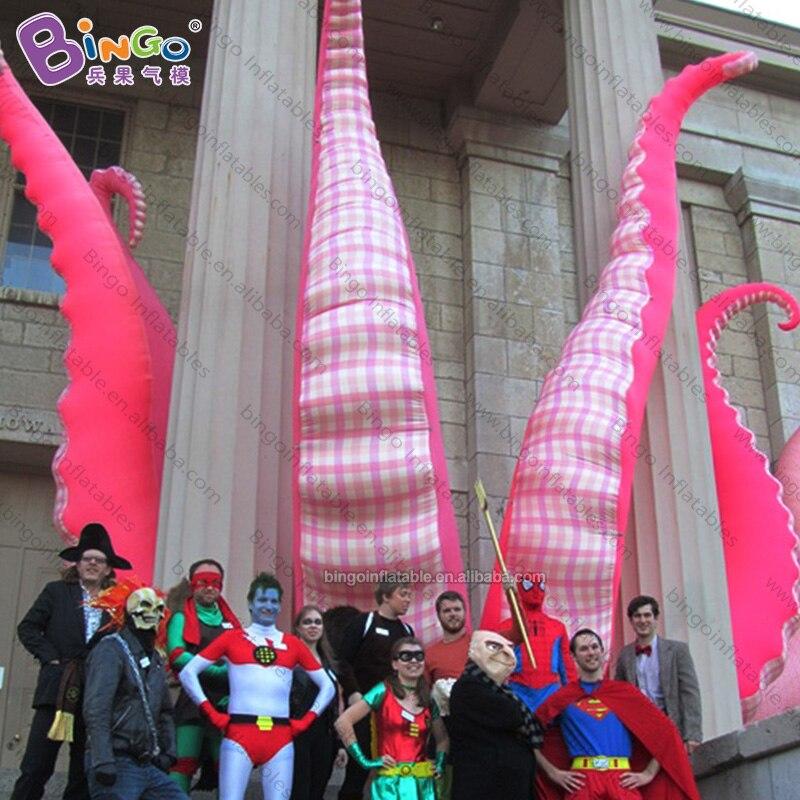 Personnalisé 3-5 mètres de haut géant pieuvre gonflable tentacule/tentacules gonflables/gros jouets gonflables d'antenne