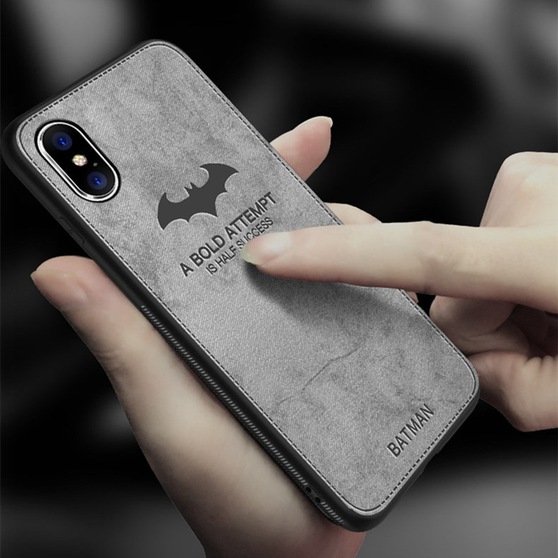 innovative design 7f5b5 99b8b Luxury Batman Christmas Deer Cloth Phone Cases For Iphone X XR XS MAX Ultra  Thin Soft Silicone Cover For Iphone 8 7 6S Plus Case
