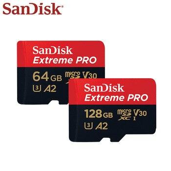 Оригинальный двойной флеш-накопитель SanDisk Extreme Pro Micro SD Card до 170 МБ/с. 128 Гб 64 Гб A2 V30 U3 карты памяти 32 Гб A1 слот для карт памяти с адаптером SD