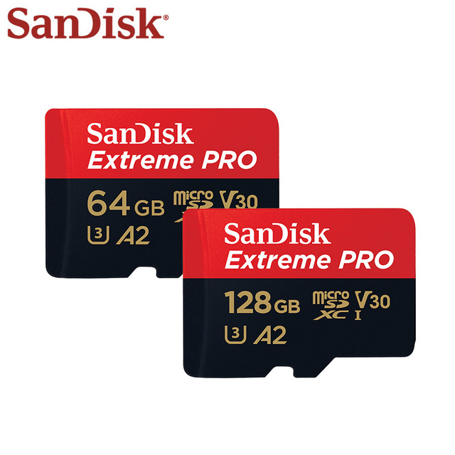 Carte Micro SD Sandisk Extreme Pro d'origine jusqu'à 170 mo/s A2 V30 U3 64 go 128 go carte mémoire Sandisk TF avec adaptateur SD