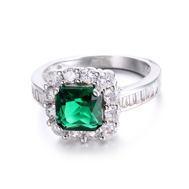 Luxury Square Shaped Zircon Ring