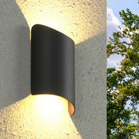 Thrisdar 10 w 크리 에이 티브 아트 야외 led 베란다 벽 조명 아래로 방수 벽 빛 빌라 발코니 안뜰 외관 벽 빛