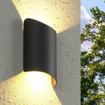Thrisdar 10W Seni Kreatif LED Teras Lampu Dinding Atas Bawah Tahan Air Lampu Dinding Villa Balcony Courtyard Dinding Eksterior cahaya