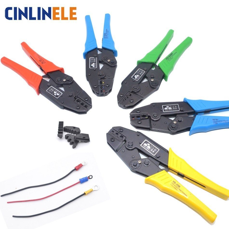 Free Shipping Crimp Pliers Multi Hand Tools Insulation Uninsulated Ring & Spade Bootlace SV VE RV Terminals Crimping 9 Inch
