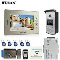 7 Inch LCD Screen Video DoorPhone Intercom System 1 Monitor 700TVL RFID Access Camera E Lock