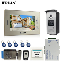 7 Inch LCD Screen Video DoorPhone Intercom System 1 Monitor 700TVL RFID Access Camera E Lock
