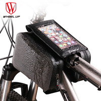 WHEEL UP 2019 Bicycle Bags Waterproof Cycling Bike Frame Iphone Bags Holder Pannier Mobile Phone Bag Case Pouch Black