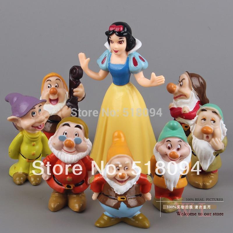 a9e2da785c7 Princess Snow white and the Seven Dwarfs PVC Action Figures Dolls Toys  8pcs set SEFG001