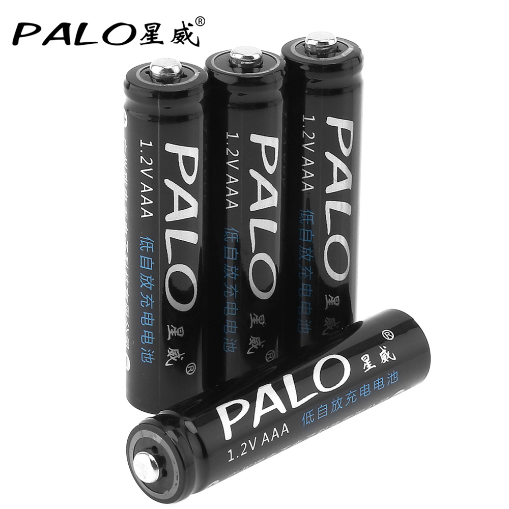 4pcs! PALO AAA Rechargeable Battery 1.2V 600mAh Ni-MH NiMH AAA Battery with Safety Relief Valve for Remote Control Toy Camera 1 4pcs aaa rechargeable battery pack 4 8v 600mah 3a ni mh nimh batteries ni mh cell for rc toys emergency light cordless phone