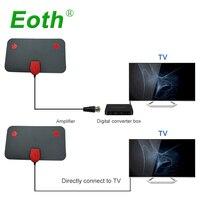 vhf uhf 2pcs אנטנה HDTV דיגיטלי מקורה DTV Antena טלוויזיה אנטנות חינם טלוויזיה פוקס אוויר DVB-T DVB-T2 Surf HD רדיוס VHF UHF אותות המקלט (4)