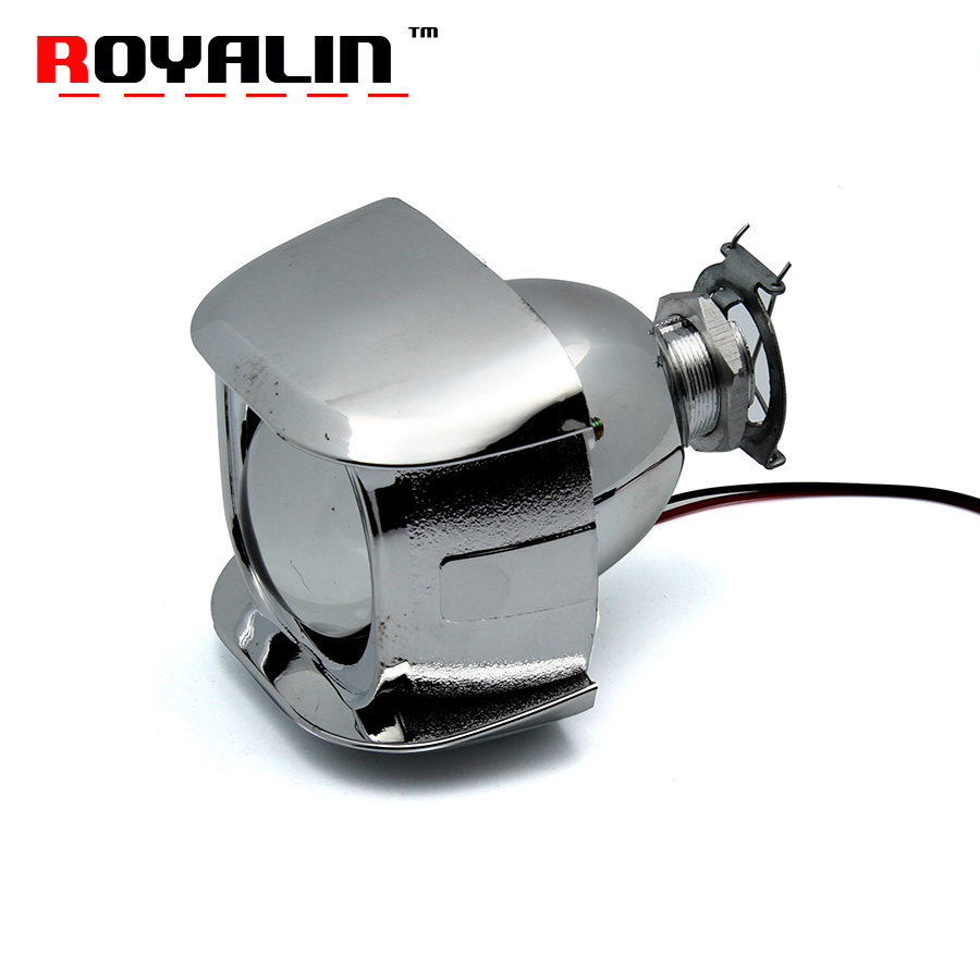 ROYALIN 1PCS Halogen Lens H1 2.0 inch Bi Xenon Projector Head Light Lens LHD Mini Glass Lens for H1 H4 H7 Motorcycle Lamps DIY